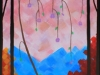 """Digital image of a detail of the acrylic painting entitled """"Spring"""" by L. """"Eilee"""" S. George"""