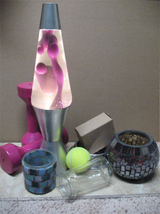 Forms with lava lamp