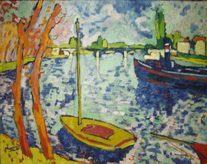 """The River Seine at Chatou"", 1906, by Maurice Vlaminck"