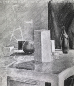 Form still life, shaded, student work